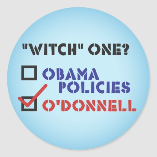 "Christine O'Donnell ""Witch"" One Stickers"