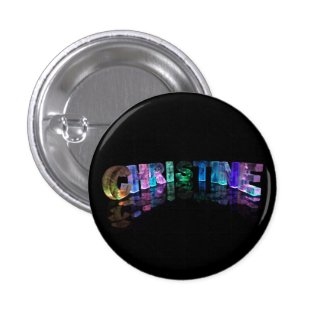 Christine- Popular Girls Names in 3D Lights Button