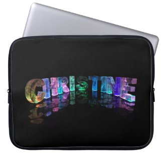 Christine- Popular Girls Names in 3D Lights Laptop Computer Sleeves