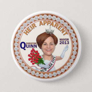 Christine Quinn NYC Mayor 2013 7.5 Cm Round Badge