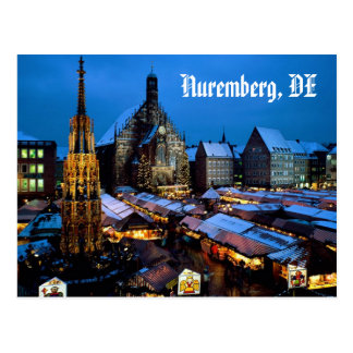 Christkindl_Market,_Nuremberg,_Bavaria,_Germany... Postcard