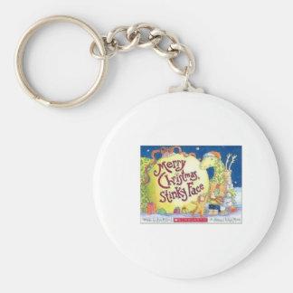 christmas2 basic round button key ring