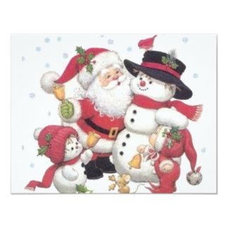 CHRISTMAS 11 CM X 14 CM INVITATION CARD