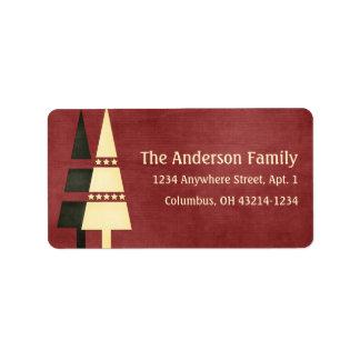 Christmas 1 : Christmas Trees 1b Return Address Address Label
