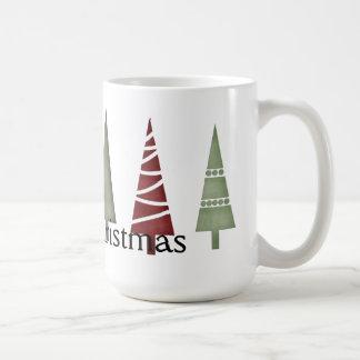 Christmas 1 : Line of Trees Merry Christmas Mug