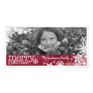 Christmas 1 Photo - Covered in Snowflakes Card