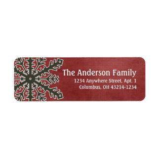 Christmas 1 : Snowflake 1f Return Address Labels