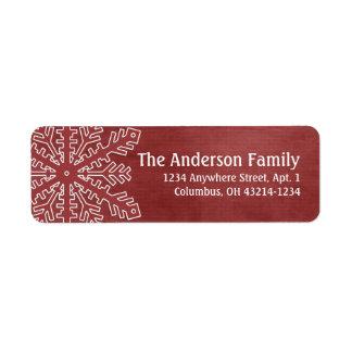 Christmas 1 : Snowflake 4e Return Address Labels