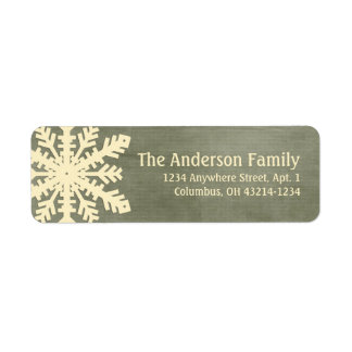 Christmas 1 : Snowflake 5h Return Address Labels