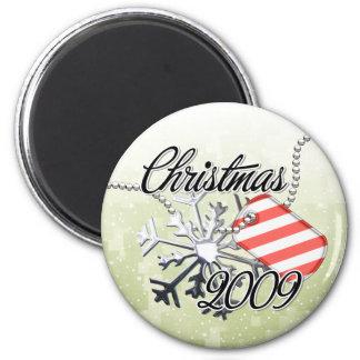 Christmas 2009 6 cm round magnet