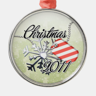 Christmas 2011 Candy Cane Tag Christmas Ornament