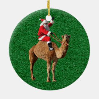 Christmas 2013 Hump Day Camel and Santa Christmas Ornament