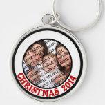 Christmas 2014 Commemorative Photo Keychains