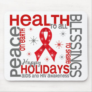 Christmas 4 AIDS Snowflakes Mouse Pad