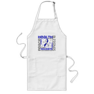 Christmas 4 ALS Snowflakes Long Apron