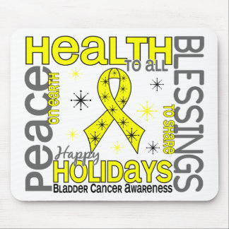 Christmas 4 Bladder Cancer Snowflakes Mouse Pad
