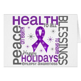 Christmas 4 Epilepsy Snowflakes Greeting Card