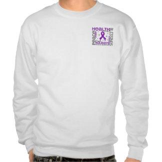 Christmas 4 Epilepsy Snowflakes Pull Over Sweatshirts