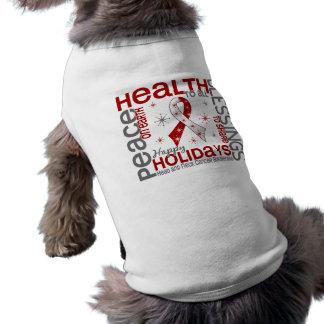 Christmas 4 Head And Neck Cancer Snowflakes Sleeveless Dog Shirt