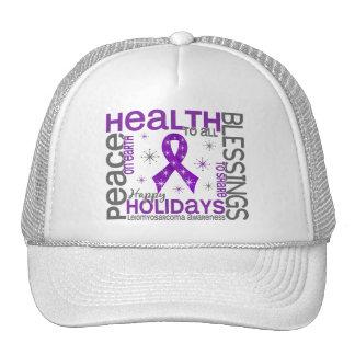 Christmas 4 Leiomyosarcoma Snowflakes Mesh Hats
