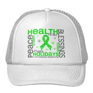 Christmas 4 Lyme Disease Snowflakes Mesh Hats