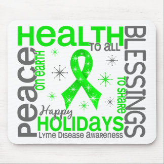 Christmas 4 Lyme Disease Snowflakes Mouse Pads