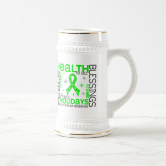 Christmas 4 Lyme Disease Snowflakes Beer Steins