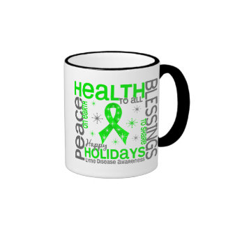 Christmas 4 Lyme Disease Snowflakes Ringer Mug
