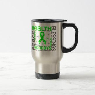 Christmas 4 Lyme Disease Snowflakes Stainless Steel Travel Mug
