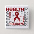 Christmas 4 Multiple Myeloma Snowflakes 15 Cm Square Badge