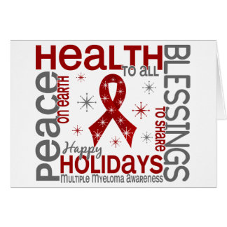 Christmas 4 Multiple Myeloma Snowflakes Greeting Card