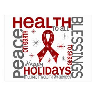 Christmas 4 Multiple Myeloma Snowflakes Postcard