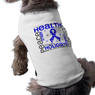 Christmas 4 Rectal Cancer Snowflakes Dog Tee Shirt