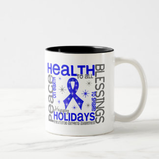 Christmas 4 Rheumatoid Arthritis Snowflakes Two-Tone Mug