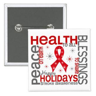 Christmas 4 Stroke Snowflakes 15 Cm Square Badge