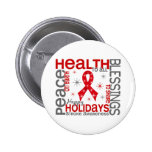 Christmas 4 Stroke Snowflakes Pinback Buttons