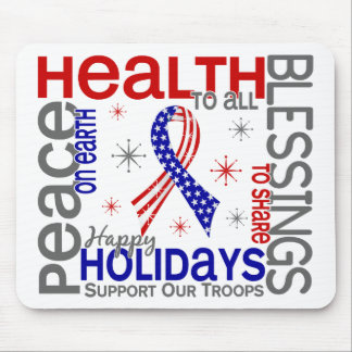 Christmas 4 Support Our Troops Mouse Mats