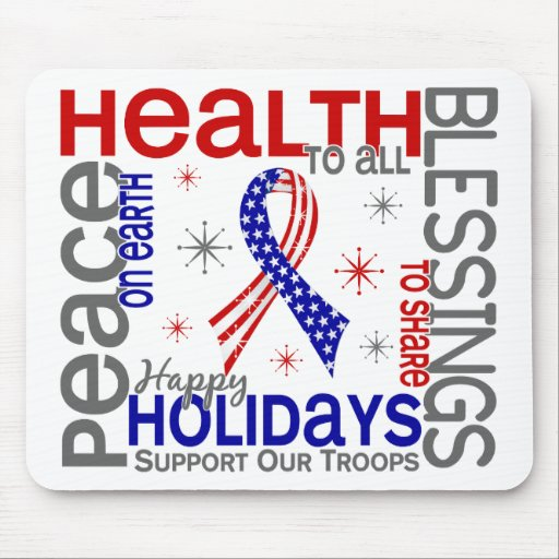 Christmas 4 Support Our Troops Mouse Pad