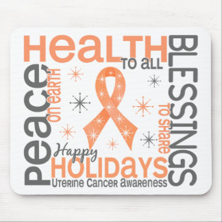 Christmas 4 Uterine Cancer Snowflakes Mouse Pads