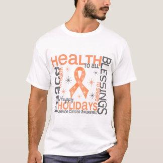 Christmas 4 Uterine Cancer Snowflakes T-Shirt