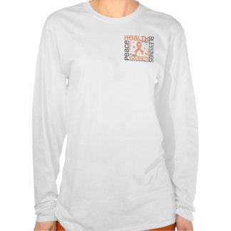 Christmas 4 Uterine Cancer Snowflakes Tshirt