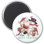 CHRISTMAS 6 CM ROUND MAGNET