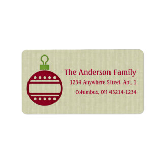 Christmas 9 : Ornament 2 Return Address Address Label