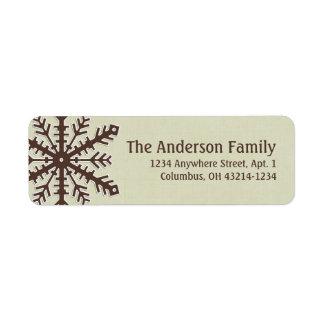 Christmas 9 : Snowflake 3b Return Address Labels
