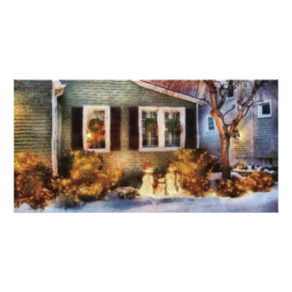 Christmas - A family moment Custom Photo Card