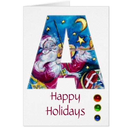 CHRISTMAS A LETTER / INSPIRED SANTA MONOGRAM CARD