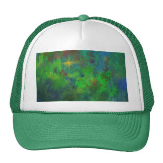 CHRISTMAS ABSTRACT TRUCKER HAT
