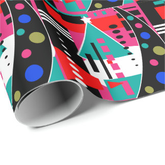 Christmas Abstract Retro Wrapping Paper