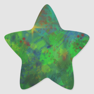 CHRISTMAS ABSTRACT STAR STICKER