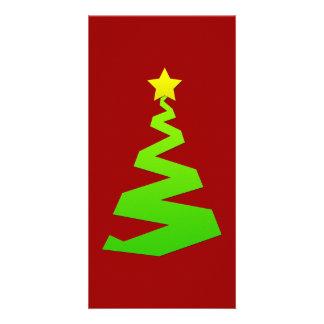 Christmas abstract tree customized photo card